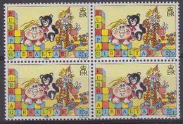 Europa Cept 1989 Gibraltar 25p Value Bl Of 4 ** Mnh (43352) - 1989