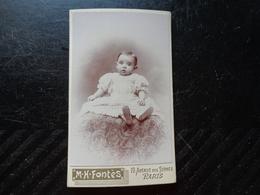 Carte Photo -enfant-photographie M.h. Fontes Paris - Photographie