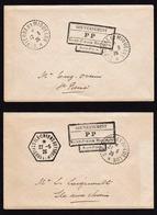 St. PIERRE ET MIQUELON: RARE Lot De 2 Lettres: Cachet: Gouvernement PP (Port Payé) Obl.......... - St.Pierre & Miquelon