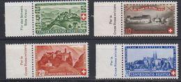 Switzerland 1944 Pro Patria 4v (+margin) ** Mnh (43354A) - Pro Patria