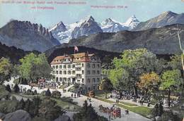 "M08293 ""HOHFLUH(BEI BRUNIG)HOTEL UND PENSION WETTERHORN MIT UMGEBUNG""-CART. ILLUSTRATA ORIG. SPED. 1920 - BE Berne"