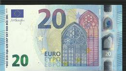 "20 EURO IRELAND ""T"" T005 C5 TC0421748489 UNC DRAGHI - EURO"