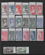 ANDORRE - Série 100 à 118 ** - Cote : 44 € - Unused Stamps