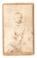 PHOTO ORIGINALE 1896 P. AUBERT LONS Le SAUNIER - BEBE BABY - PETIT GARCON ? PETITE FILLE ? - Persone Anonimi