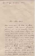 Lettre Du 4 Août 1914 Au Lendemain De La Déclaration De La Guerre Entre L'Allemagne Et La France - Vieux Papiers