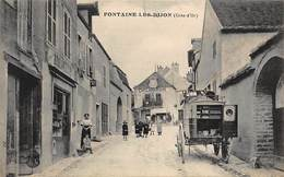FONTAINE-les-DIJON : Cafe Ligeron Rocard, Attelage - Tres Bon Etat - France