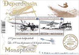Blok 207 Deperdussin - Monoplane MNH - De Eerste Luchtpostvlucht 4333/34** Les 100 Ans Du 1er Vol De La Poste Aérienne - Belgium