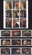 Romania, 2011, Cave,12 Stamps With Coupons - 1948-.... Repúblicas