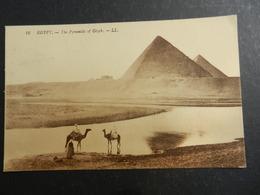 19950) EGITTO EGYPT PIRAMIDS OF GIZEH VIAGGIATA 1923 FRANCOBOLLO NEDERLAND 12,5 CENT - Piramidi