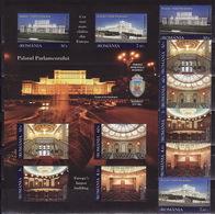 Romania, 2011, Parliament, Architecture, 6 Stamps, Block - 1948-.... Repúblicas