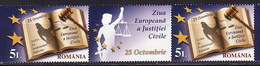 Romania, 2011, Civil Rights' Day, 2 Stamps With Coupon - 1948-.... Repúblicas