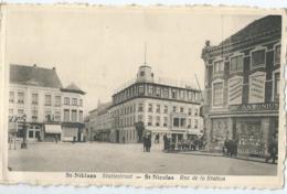 St-Niklaas - Statiestraat - St-Nicolas - Rue De La Station - Edit. Foubert, St-Nicolas - Sint-Niklaas