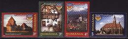Romania, 2013, Architecture, 4 Stamps - 1948-.... Repúblicas