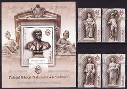 Romania, 2013, Architecture, Statues, 4 Stamps, Block - 1948-.... Repúblicas