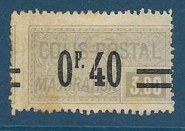 Timbre Neuf* France, N°36 Yt, Colis Postaux, Majoation, ,1918, 0.40 Sur 3.00, Charnière, - Neufs