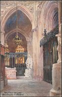 The Choir Chapels, Manchester Cathedral, Lancashire, C.1905 - Tuck's Oilette Postcard - Manchester