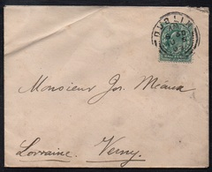 DUBLIN - IRLANDE - EIRE - DUBLIN - GB - QV / 1903 LETTRE POUR VERNY - LORRAINE (ref 6872) - 1902-1951 (Kings)