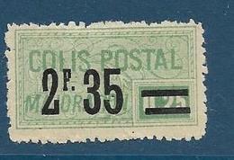 Timbre Neuf* France, N°44 Yt, Colis Postaux, Majoration, ,1918, 2.35 Sur 0.25, Charnière, - Neufs