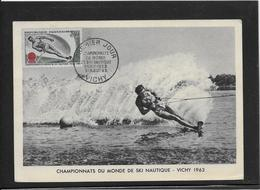 Thème Ski Nautique - Jeux Olympiques - Sports - Carte Maximum - Sci Nautico