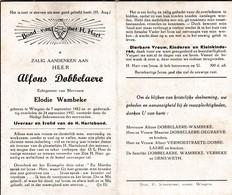 A.DOBBELAERE °WINGENE 1882 +1957 (E.WAMBEKE) - Religion & Esotericism
