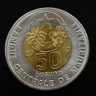 Mauritania 50 Ouguiya 2010, Km9. Bimetallic Coin UNC - Mauritania