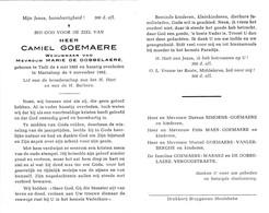 C.GOEMARE °TIELT 1883 +MARIALOOP 1962 (M.DE DOBBELAERE) - Religion & Esotericism