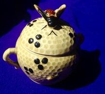HONING-POT ANCIEN POT à MIEL MELI ADINKERKE DE PANNE * Honey Jar Bij Bee Ruche Honeybee Apiculture Apiculteur Z686 - Autres Collections