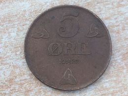 1922 Norway Norge 5 Ore Coin - Very Fine - Norway