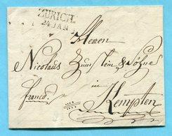 Faltbrief Von Zürich Nach Kempten 1813 - Suisse