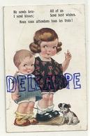 Deux Enfants Et Un Chien. 1924. Signée ? Florence House - Illustrateurs & Photographes