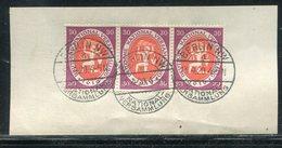 Deutsches Reich / 1920 / Mi. 110 3er-Streifen A. Bfst., Steg-Stempel Berlin-Nationalversammlung (19061) - Briefe U. Dokumente