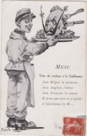Bu - Cpa Illustrée - MENU : Tête De Cochon à La Guillaume - Patriottisch