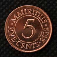 Mauritius 5 Cents Coin 2012. Km52. UNC. Africa. - Mauretanien