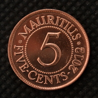 Mauritius 5 Cents Coin 2012. Km52. UNC. Africa. - Mauritania
