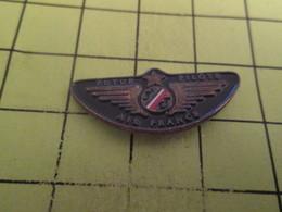 613d Pin's Pins / Beau Et Rare / THEME : AVIATION / FUTUR PILOTE AIR FRANCE En Espèrant Que Ce Sera Pas Sur Boeing !!!!! - Airplanes