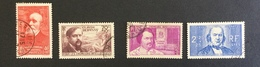 FRANCE - YT 436 A 439 - Cote: 20 € Chômeurs Intellectuels - Used Stamps