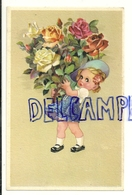 Petite Fille Et énorme Bouquet De Roses. Coloprint Spécial 5115/1 - Illustrateurs & Photographes