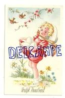 Vrolijk Paasfeest. Petite Fille Blonde, Oeufs, ... 1951 - Pasen