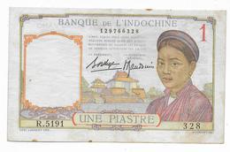 INDOCHINE - BILLET De 1 PIASTRE - TTB QUELQUES PLIS ET INFIMES ROUSSEURS - AUCUN TROU - Indochina
