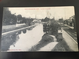 Cpa Non Circulée Saint Nicolas Du Port La Gare Et Le Canal - Saint Nicolas De Port