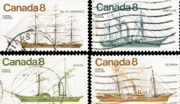 Canada (Scott No. 670-73 - Bateaux Côtiers / Coastal Vessels) (o)  Série / Set - 1952-.... Règne D'Elizabeth II