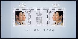 +H820. Denmark 2004. Royal Wedding. Bloc. MNH(**) - Blocchi & Foglietti