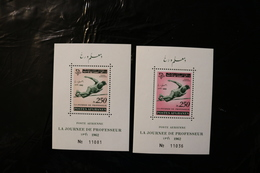 Afghanistan C37a TWO COLOURS High Jump Teacher's Day Souvenir Ssheet Block MNH 1962 A04s - Afghanistan
