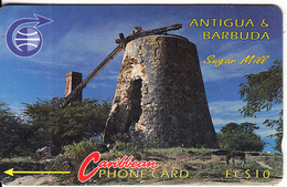 ANTIGUA & BARBUDA(GPT) - Sugar Mill, CN : 6CATA, Tirage 10200, Used - Landscapes