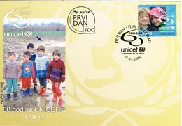 33341. Carta  F.D.C. BEOGRAD (Belgrado) SEBIA 2006. Unicef 60 Jahre - Serbia