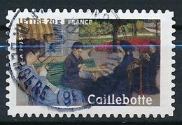 France - Les Impressionnistes - Caillebotte YT A74 (3866) Obl. Cachet Rond - France