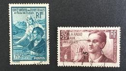 FRANCE - YT 417 418 - Cote: 18 € Bon Centrage - Used Stamps