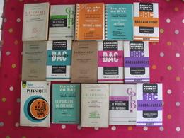 15 Livres Sciences Physique Chimie Annales Problèmes Résolus Corrigés Baccalauréat Guides Pratiques Scolaire - Lots De Plusieurs Livres