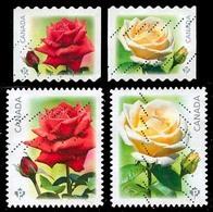 Canada (Scott No.2728-31 - Roses)+ (o) - 1952-.... Règne D'Elizabeth II