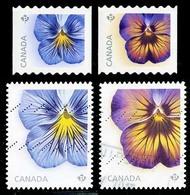 Canada (Scott No.2810-13 - Pensées / Pansies) (o) - 1952-.... Règne D'Elizabeth II